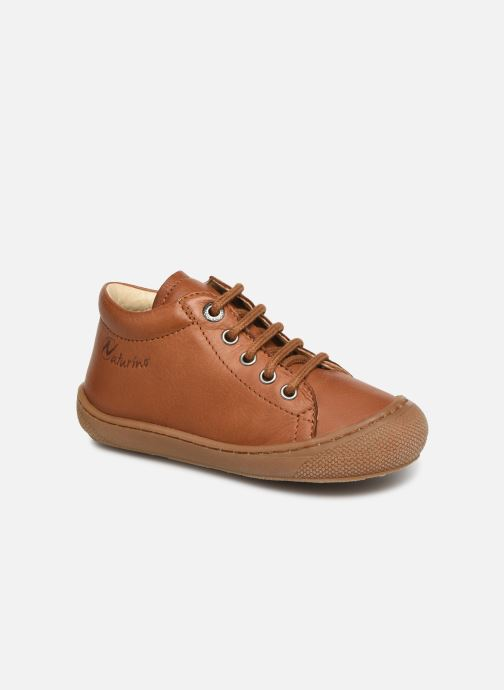 Lace-up shoes Naturino Cocoon Brown detailed view/ Pair view