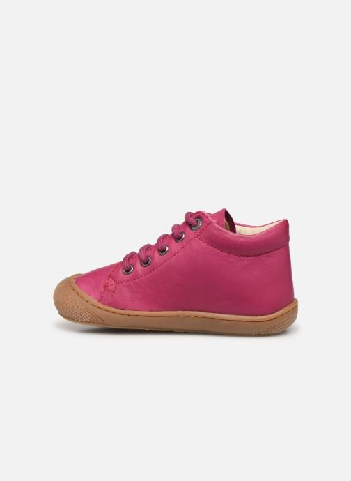 Chaussures à lacets Naturino Cocoon Rose vue face