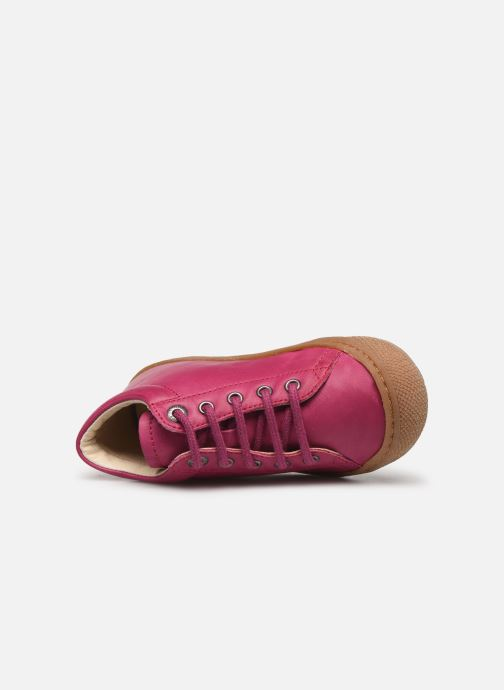 Chaussures à lacets Naturino Cocoon Rose vue gauche