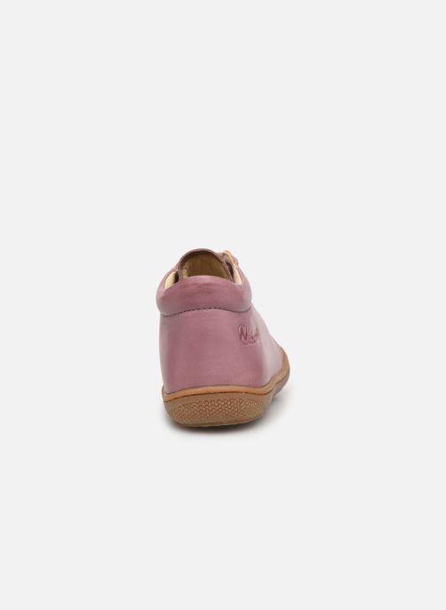 Chaussures à lacets Naturino Cocoon Rose vue droite