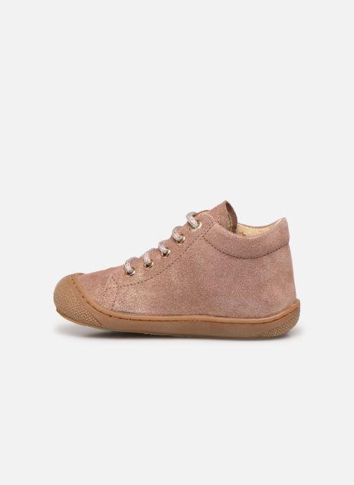 Zapatos con cordones Naturino Cocoon Beige vista de frente