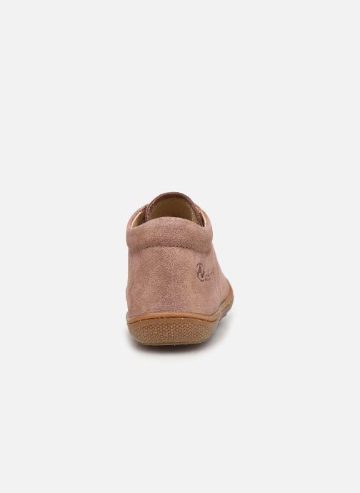 Zapatos con cordones Naturino Cocoon Beige vista lateral derecha