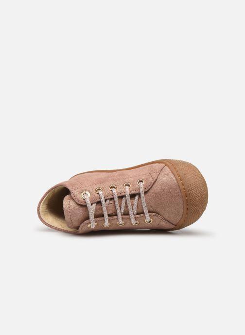 Zapatos con cordones Naturino Cocoon Beige vista lateral izquierda