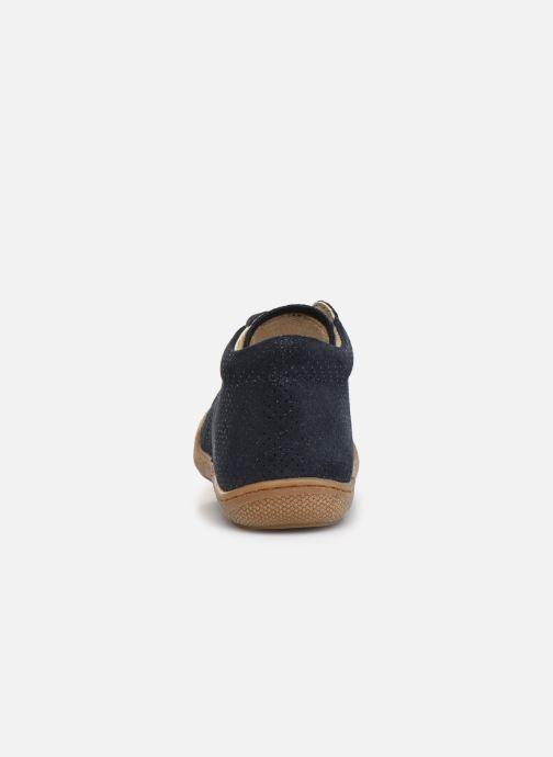 Zapatos con cordones Naturino Cocoon Azul vista lateral derecha