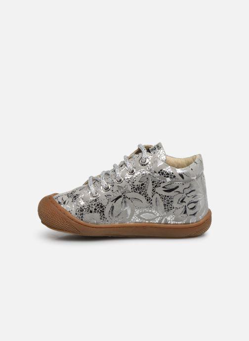 Zapatos con cordones Naturino Cocoon Plateado vista de frente