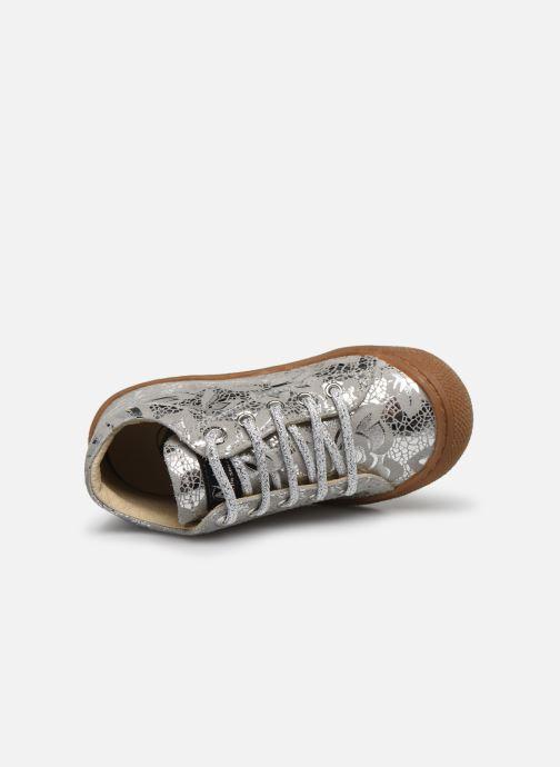 Zapatos con cordones Naturino Cocoon Plateado vista lateral izquierda