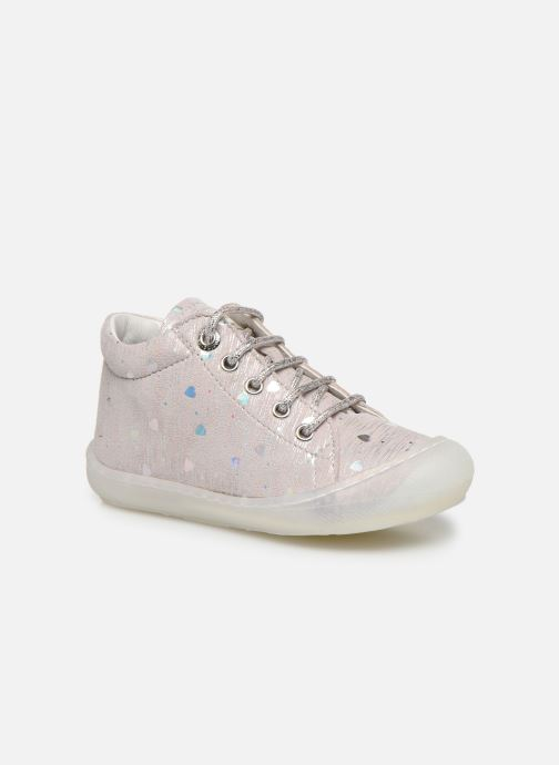 Zapatos con cordones Naturino Cocoon Plateado vista de detalle / par