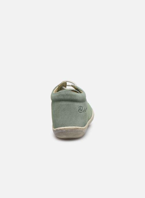 Zapatos con cordones Naturino Cocoon Verde vista lateral derecha
