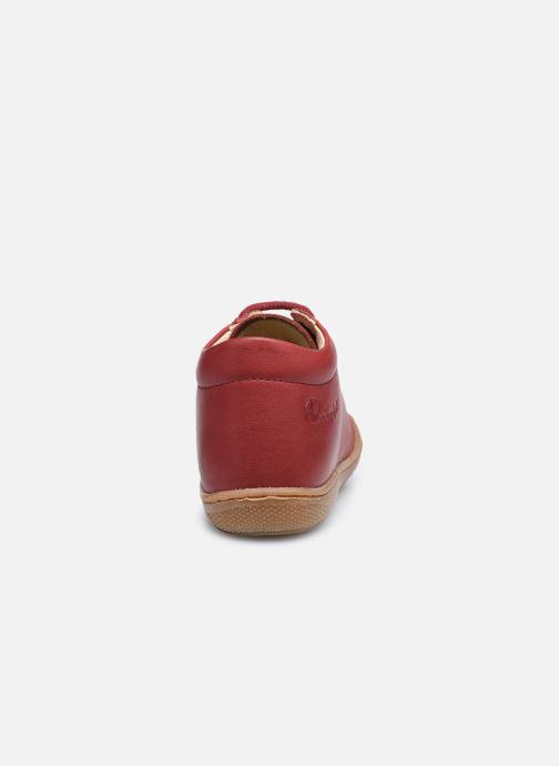 Zapatos con cordones Naturino Cocoon Rojo vista lateral derecha