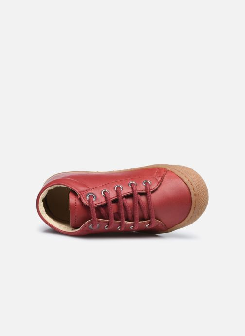 Chaussures à lacets Naturino Cocoon Rouge vue gauche