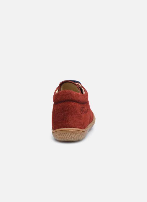 Schnürschuhe Naturino Cocoon rot ansicht von rechts
