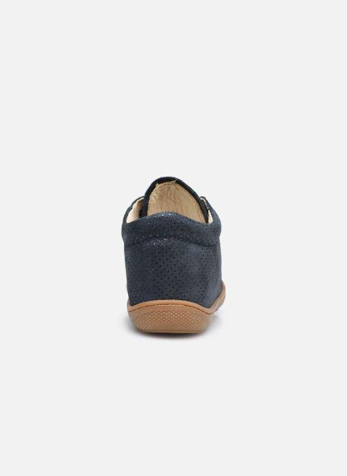 Chaussures à lacets Naturino Cocoon Bleu vue droite