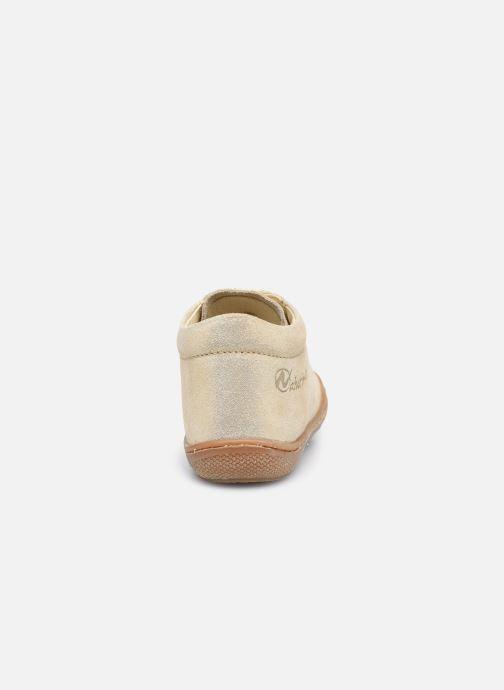 Chaussures à lacets Naturino Cocoon Or et bronze vue droite