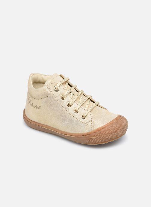 Chaussures à lacets Naturino Cocoon Or et bronze vue détail/paire