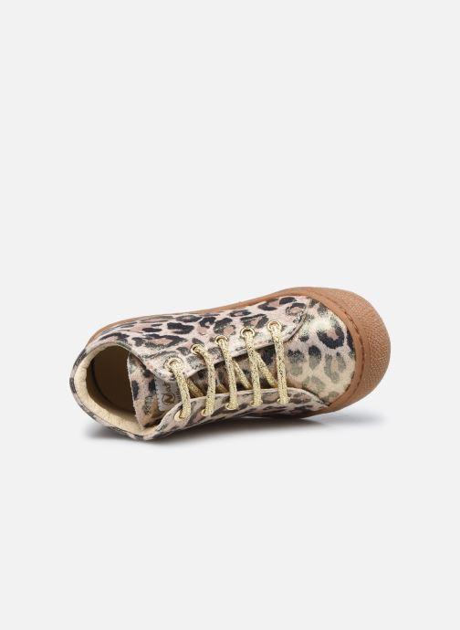 Schnürschuhe Naturino Cocoon gold/bronze ansicht von links