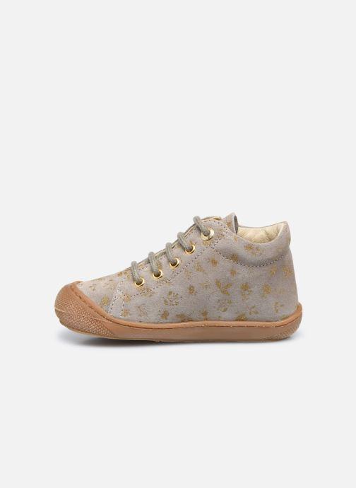 Chaussures à lacets Naturino Cocoon Or et bronze vue face