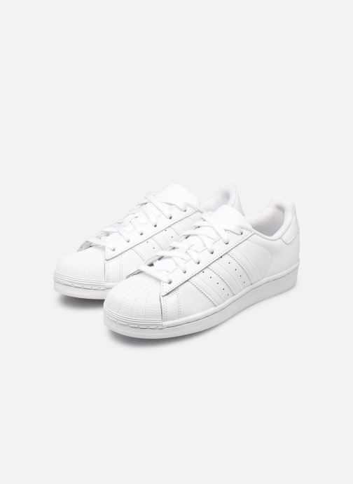 Deportivas adidas originals Superstar Foundation W Blanco vista de abajo