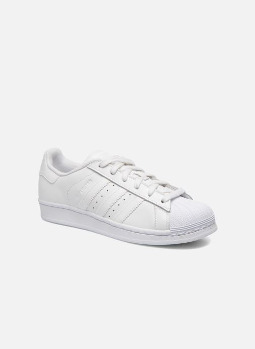 Deportivas adidas originals Superstar Foundation W Blanco vista de detalle / par