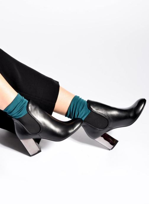Ankle boots Made by SARENZA Winter Ski #2 Green view from underneath / model view