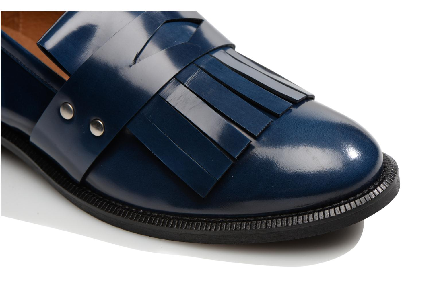Loafers Made by SARENZA Vegas Lipstick #3 Blue view from the left