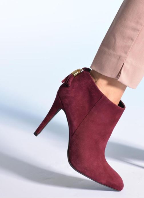 Ankle boots Made by SARENZA Smoking Simone #5 Burgundy view from underneath / model view