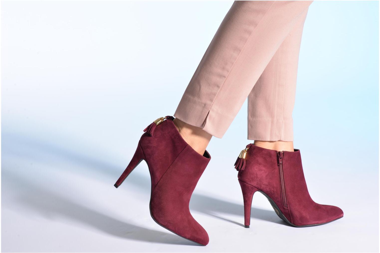 Bottines et boots Made by SARENZA Smoking Simone #5 Bordeaux vue bas / vue portée sac