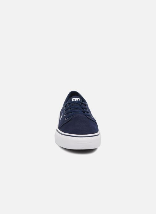 Sneakers DC Shoes TRASE TX Kids Azzurro modello indossato