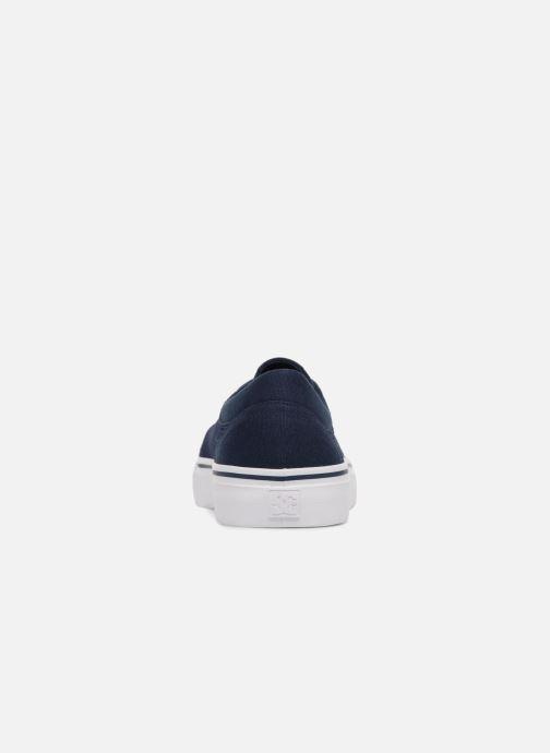 Deportivas DC Shoes TRASE TX Kids Azul vista lateral derecha