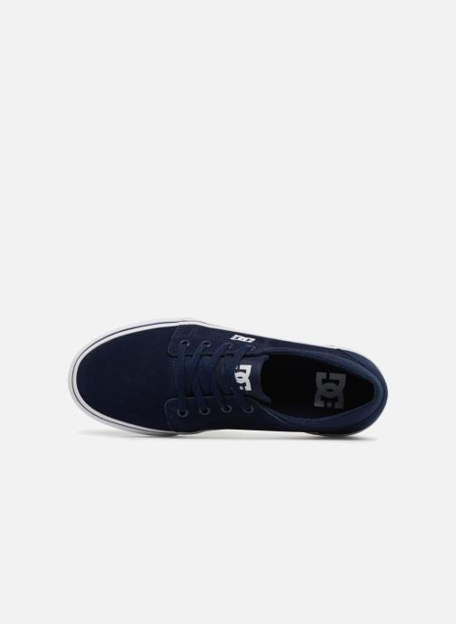 Deportivas DC Shoes TRASE TX Kids Azul vista lateral izquierda