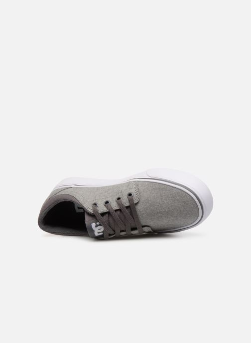 Trainers DC Shoes TRASE TX Kids Grey view from the left