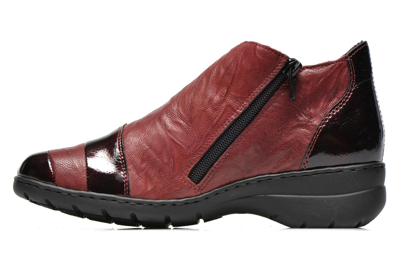 Chaussures à lacets Rieker Fleur L4334 Bordeaux vue face