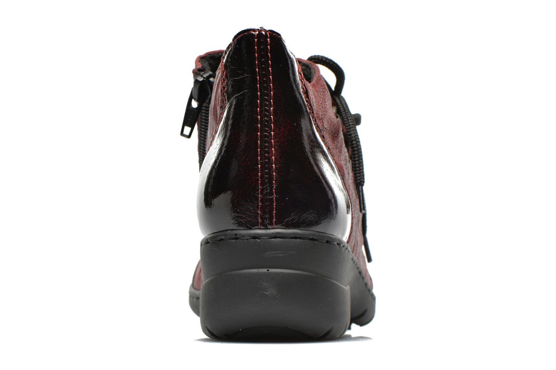 Chaussures à lacets Rieker Fleur L4334 Bordeaux vue droite