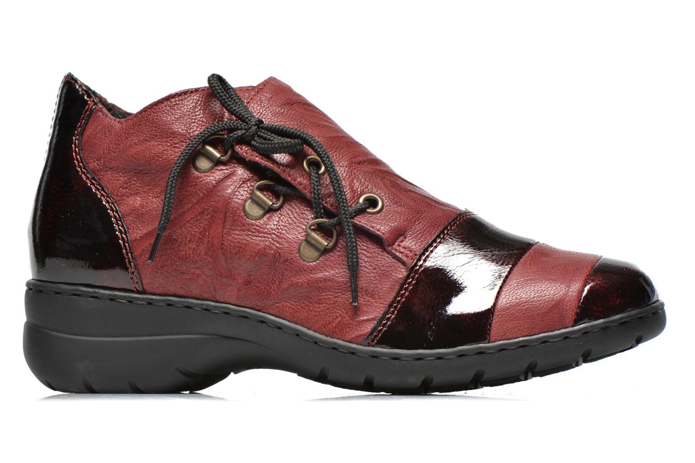 Chaussures à lacets Rieker Fleur L4334 Bordeaux vue derrière