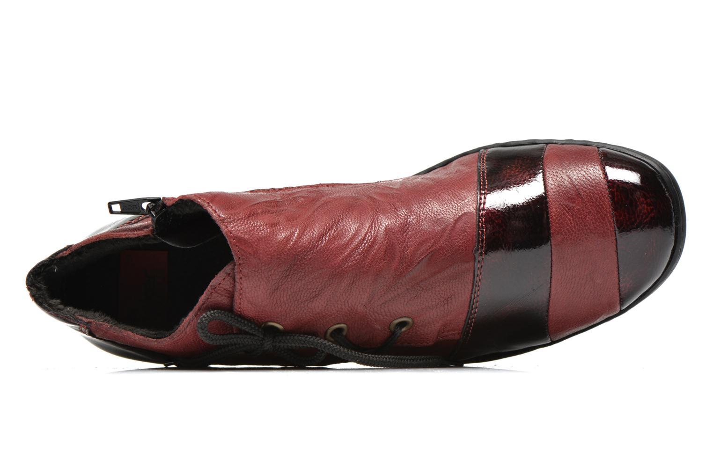 Chaussures à lacets Rieker Fleur L4334 Bordeaux vue gauche