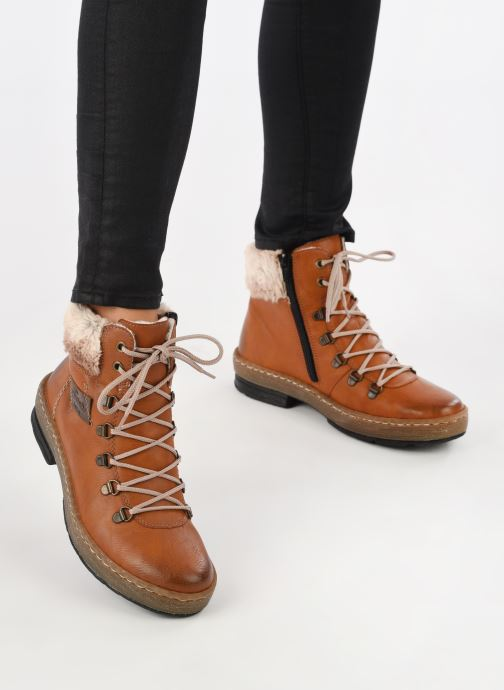 Ankle boots Rieker Ilam Z6743 Brown view from underneath / model view