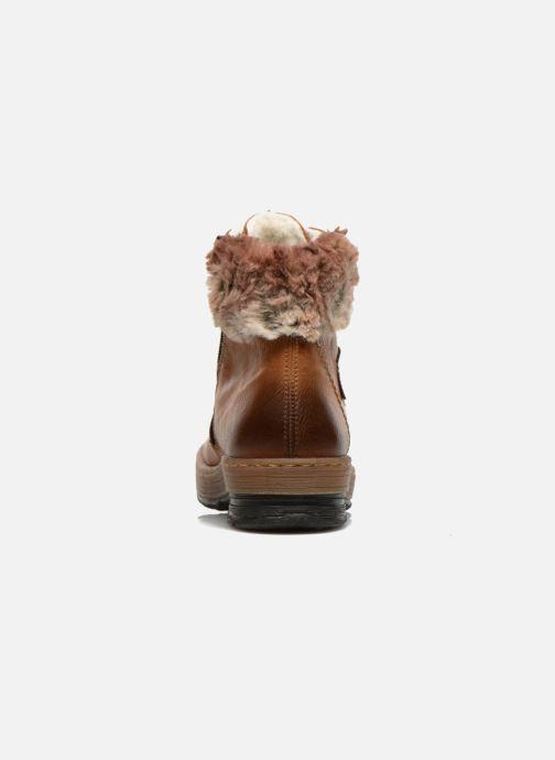 Boots en enkellaarsjes Rieker Ilam Z6743 Bruin rechts