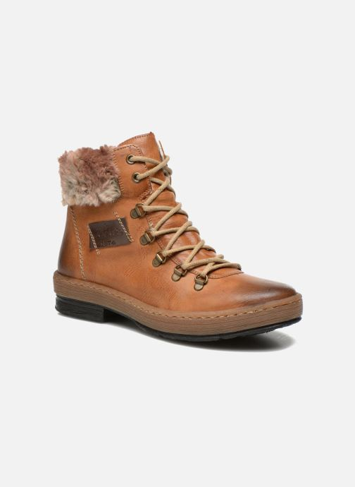 Ankle boots Rieker Ilam Z6743 Brown detailed view/ Pair view