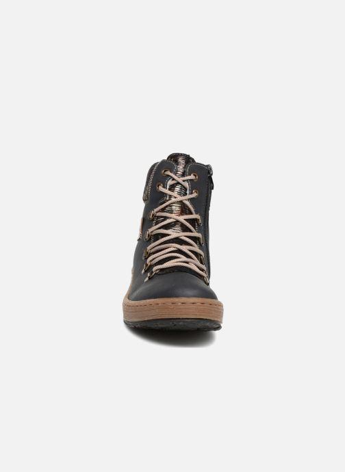 Bottines et boots Rieker Ilam Z6743 Bleu vue portées chaussures