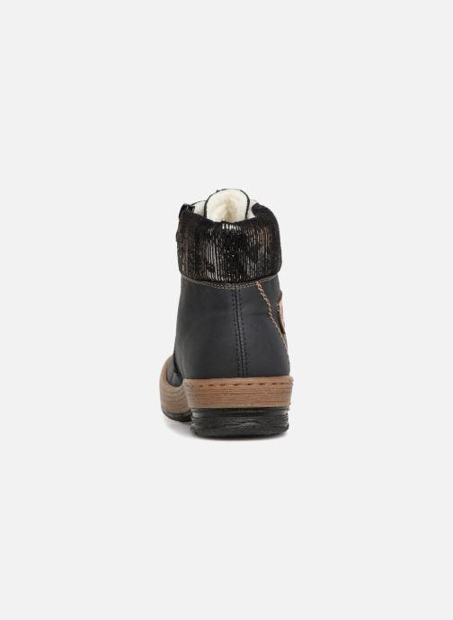 Bottines et boots Rieker Ilam Z6743 Bleu vue droite
