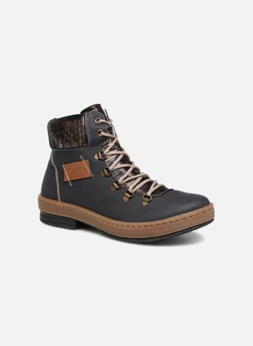 Bottines et boots Rieker Ilam Z6743 Bleu vue détail/paire