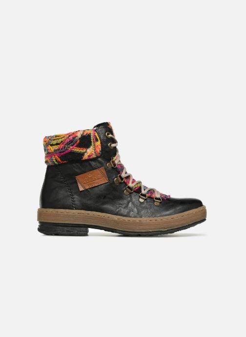 Boots en enkellaarsjes Rieker Ilam Z6743 Zwart achterkant