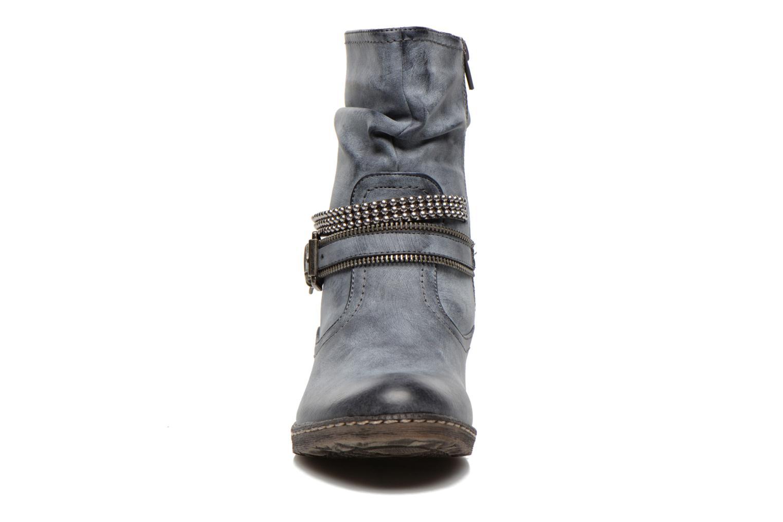 Stiefeletten & Boots Rieker Kady K1496 blau schuhe getragen