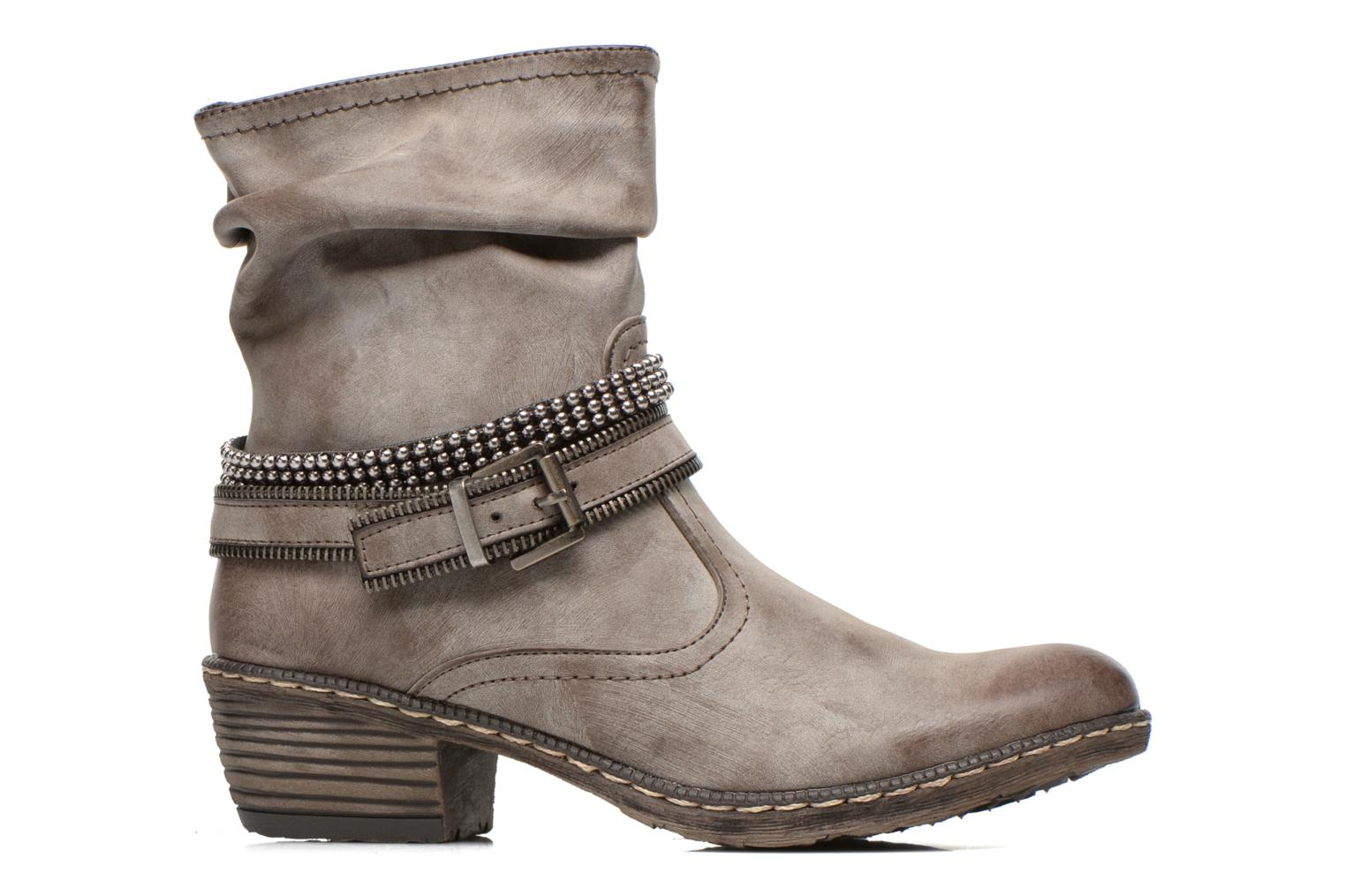 Ankle boots Rieker Kady K1496 Brown back view