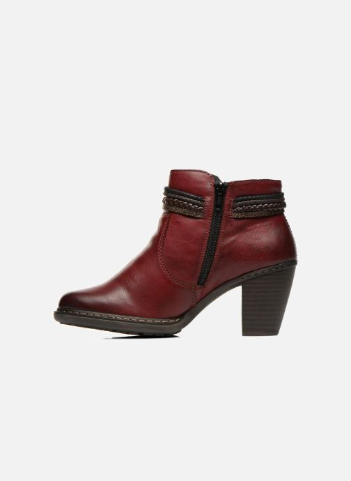Bottines et boots Rieker Alice 55298 Bordeaux vue face
