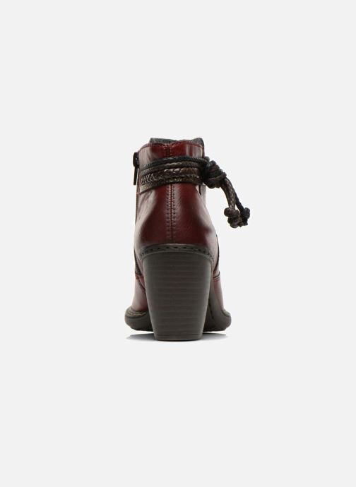 Bottines et boots Rieker Alice 55298 Bordeaux vue droite