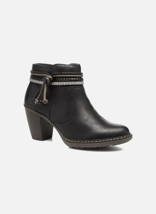 Ankle boots Rieker Alice 55298 Black detailed view/ Pair view