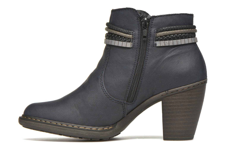 Bottines et boots Rieker Alice 55298 Bleu vue face