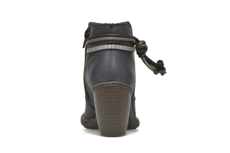 Bottines et boots Rieker Alice 55298 Bleu vue droite