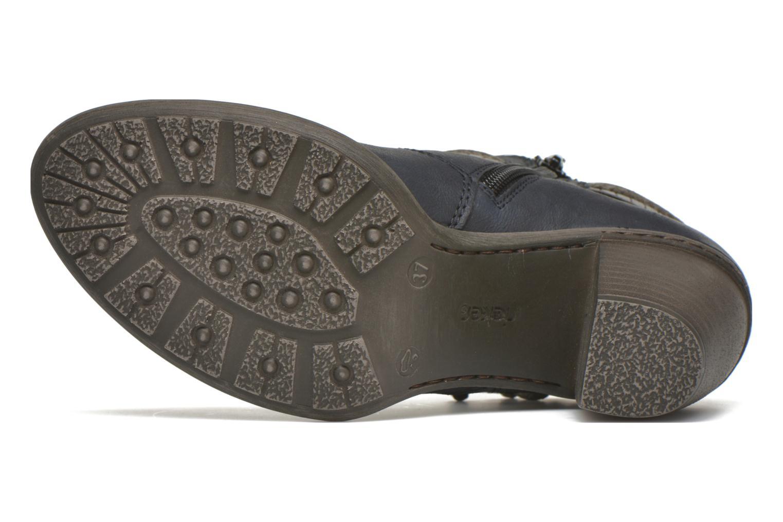 Bottines et boots Rieker Alice 55298 Bleu vue haut