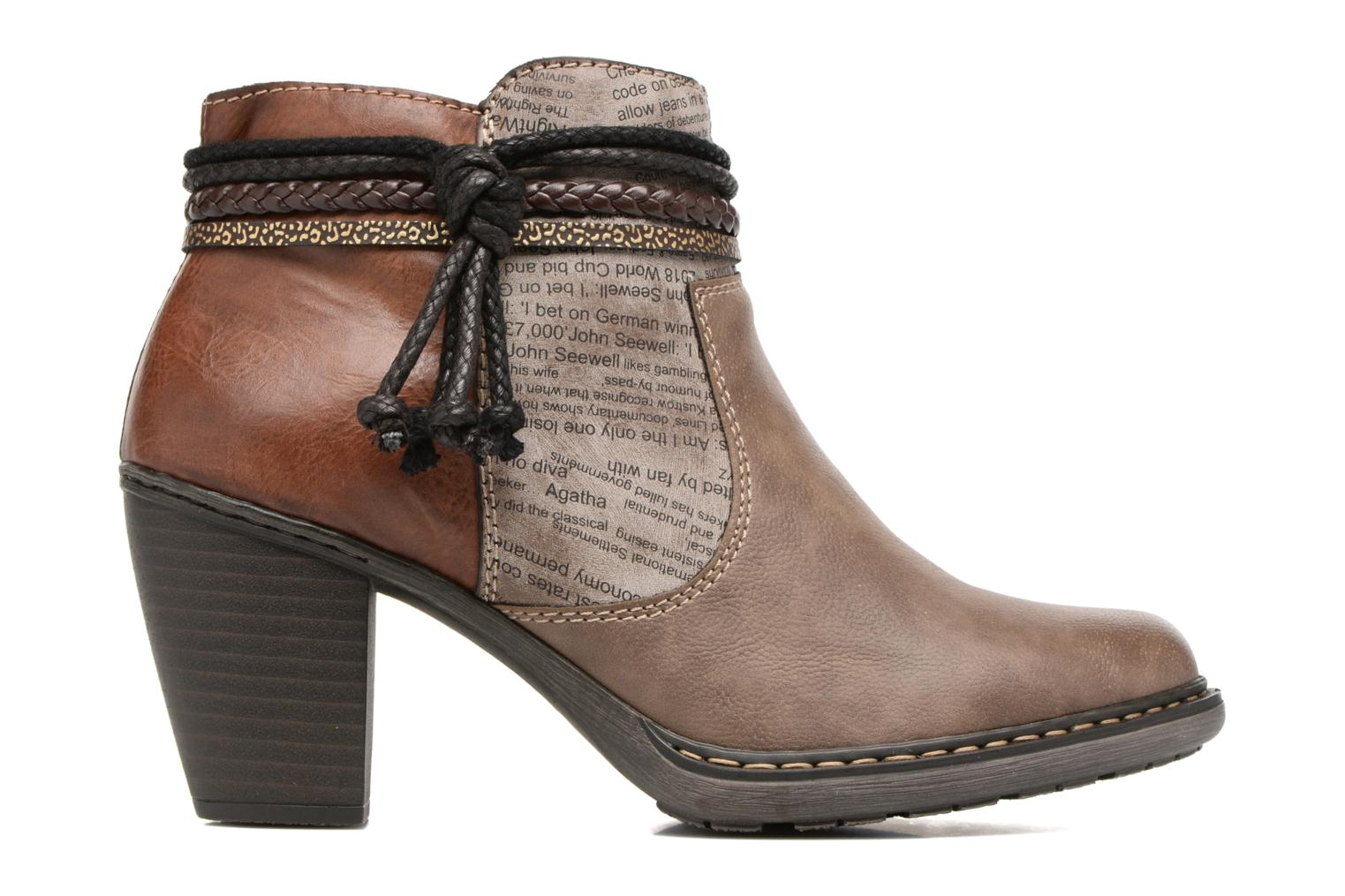 Ankle boots Rieker Alice 55298 Brown back view